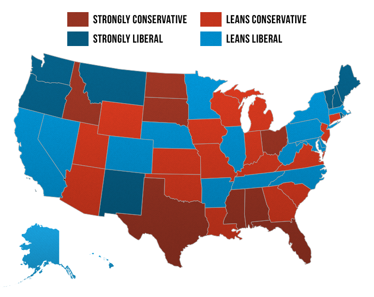 State Courts Ideology Map